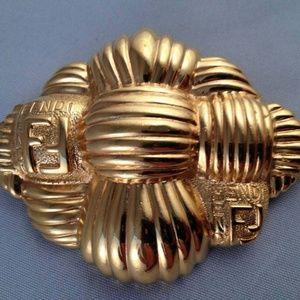 Fendi Basket Weave Brooch